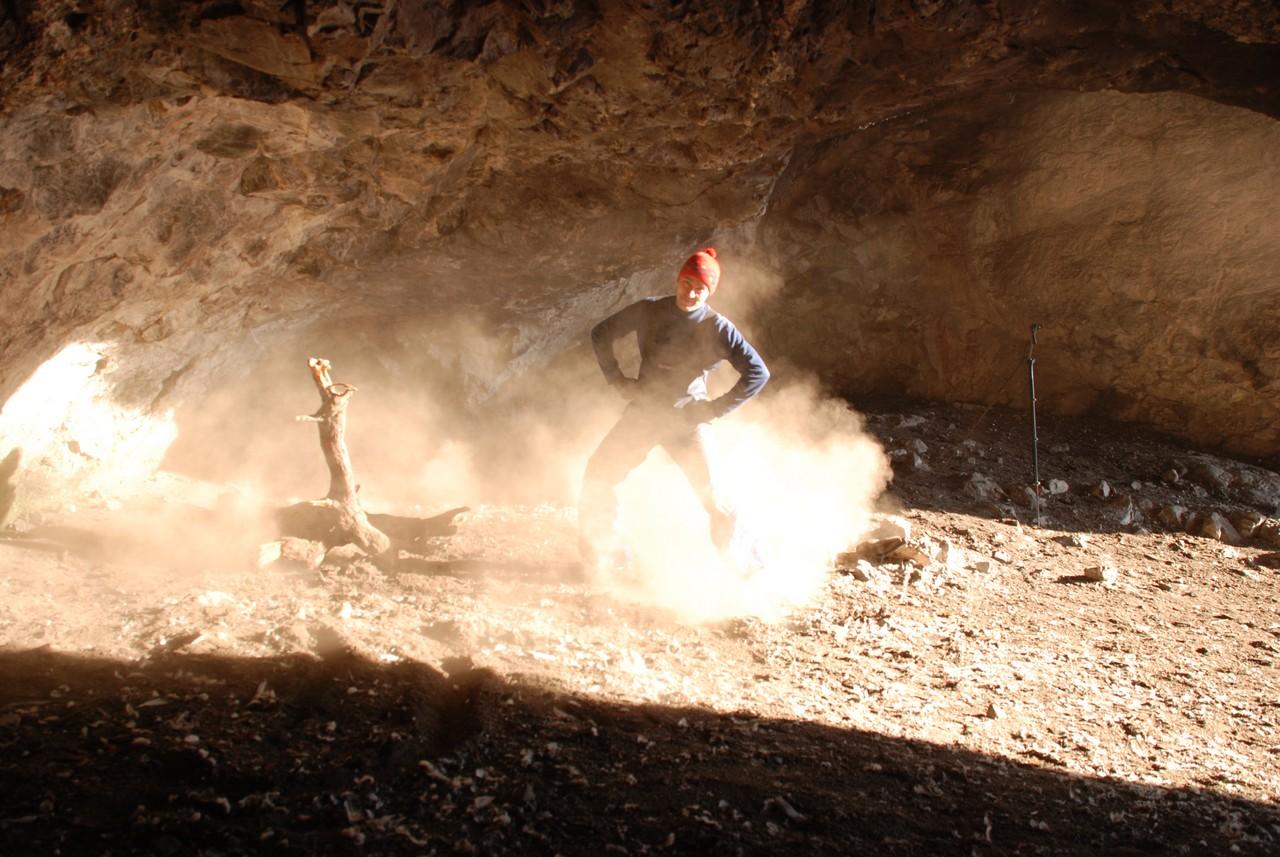 В пещере пыльно